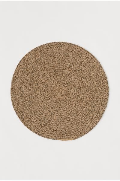 Round Bathroom Rugs, Bath Mat, Bamboo Rug