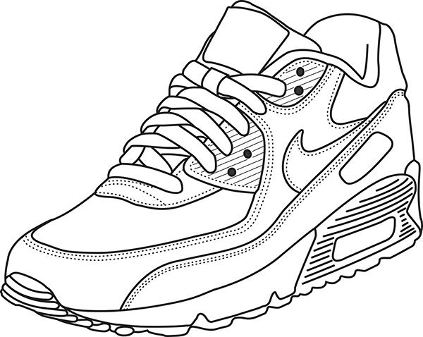 Zapatillas Nike Para Colorear En 2020 Dibujo Zapatillas Zapatos