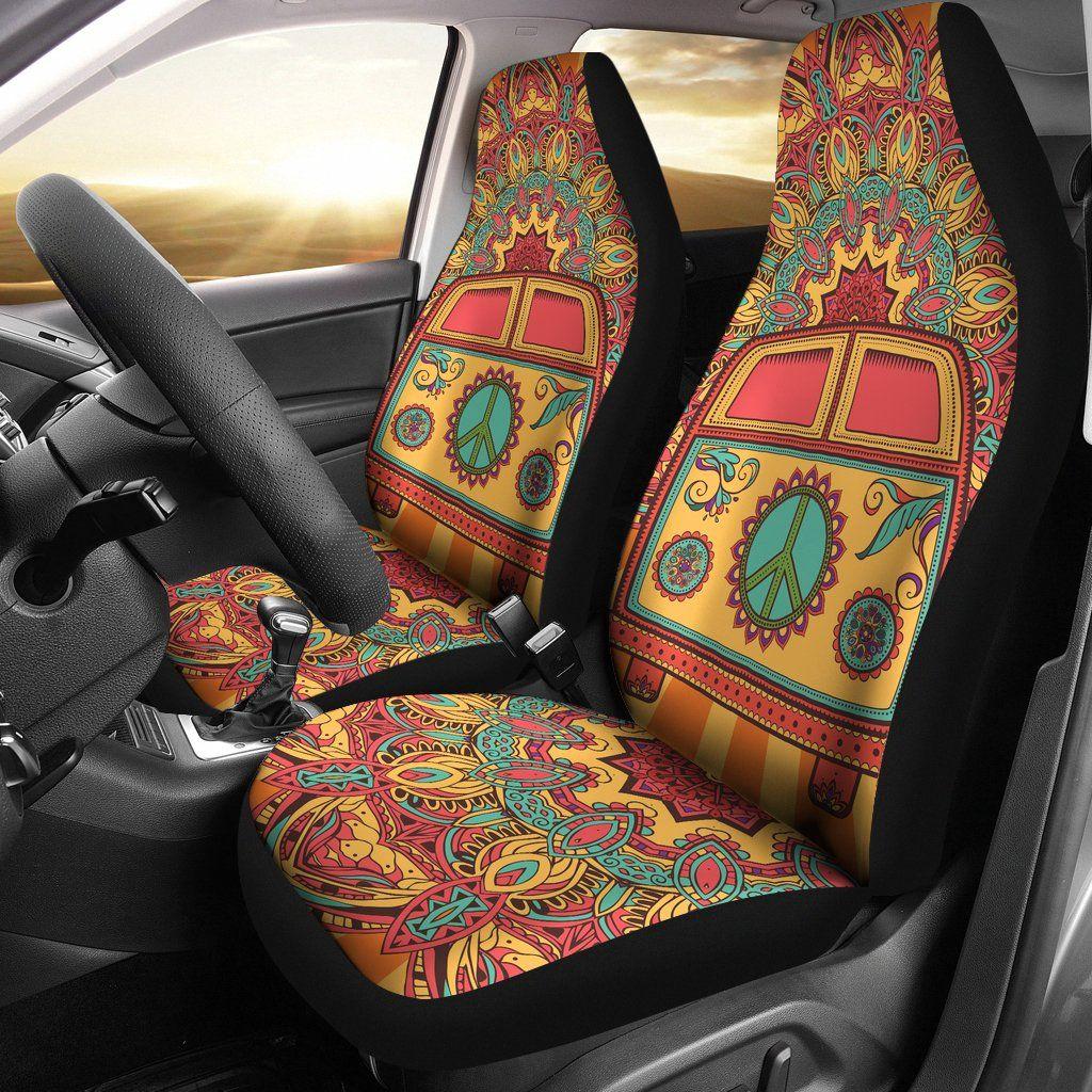 Hippie Van Car Seat Covers Fit car, Van car, Hippie car
