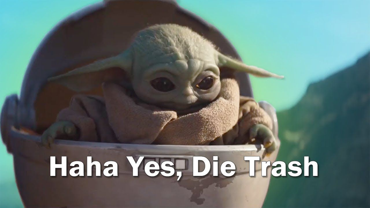 Baby Yoda But With Subtitles Youtube Star Wars Stickers Happy Star Wars Day Star Wars Memes