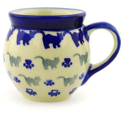 Polmedia Polish Pottery 7 oz. Stoneware Bubble Mug