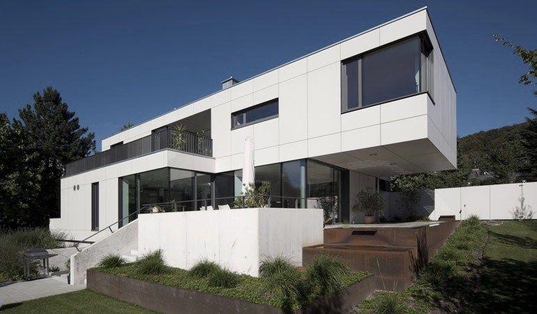 modern villa in germany equitone facade panels modern houses pinterest. Black Bedroom Furniture Sets. Home Design Ideas