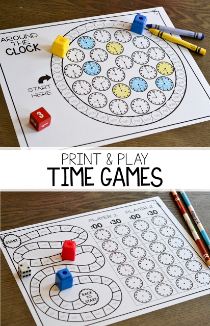 measurement and time print play games susan jones teaching telling time games first. Black Bedroom Furniture Sets. Home Design Ideas