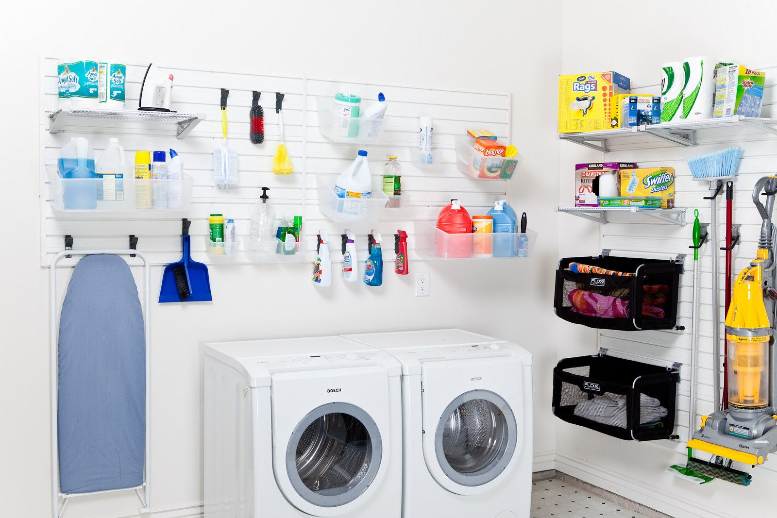 clean and organized flow wall laundry room garage wall on laundry room wall covering ideas id=66257