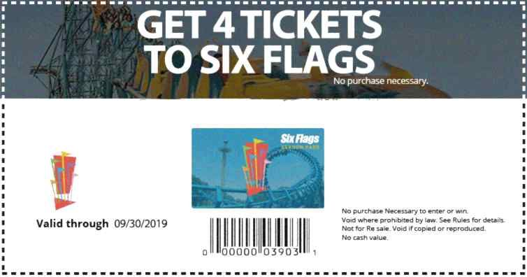 Get Your Tickets 4 Per Person Family Entertainment Six Flags Over Texas Amusement Park