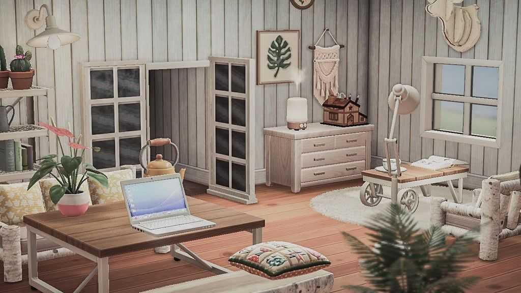 My Rustic Cottage Living Space I Love How Open And Cozy It Feels To See The Creator Codes In 2020 Animal Crossing Wild World Cute Living Room New Animal Crossing
