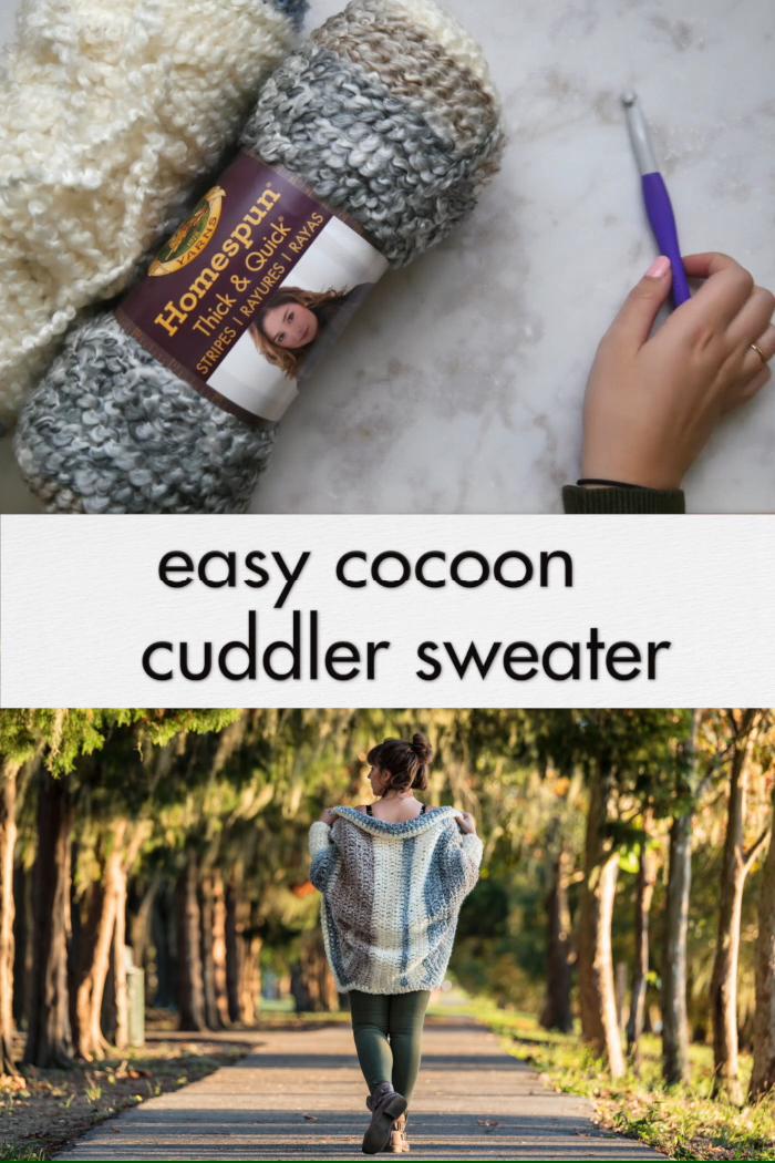 Photo of Crochet Cuddler Cocoon Sweater – free pattern