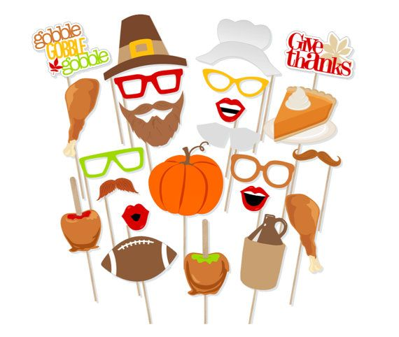 DIGITAL Thanksgiving photo booth props NO PHYSICAL ITEM