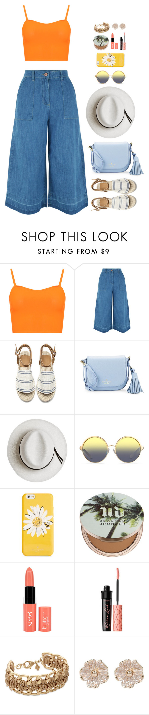"""""""All I Ask"""" by xoxomuty on Polyvore featuring WearAll, New Look, Kate Spade, Calypso Private Label, Matthew Williamson, Urban Decay, NYX, Benefit and River Island"""