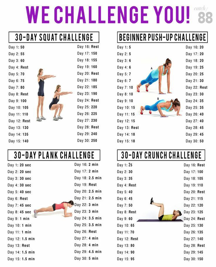 3 day fitness challenges
