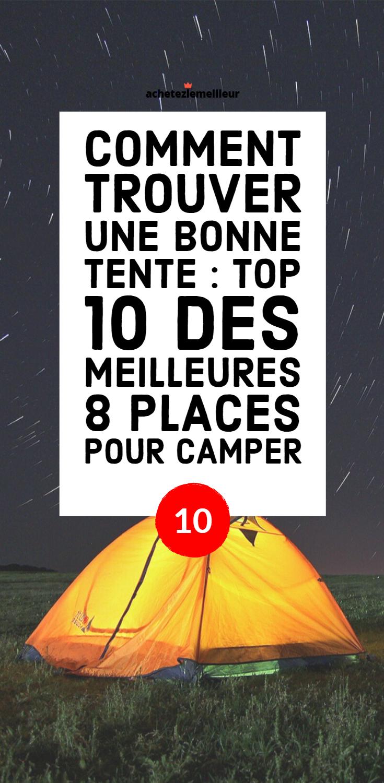 comparateur de camping tente