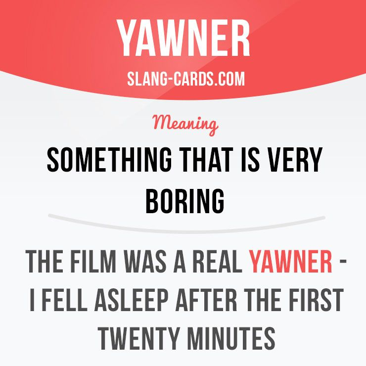 Yawner - minutes example