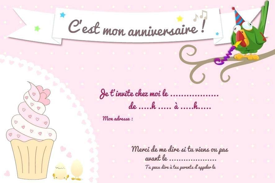 invitation anniversaire cupcake
