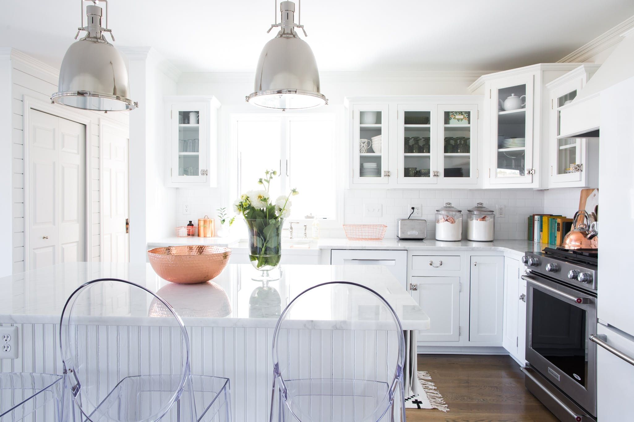 a serial entrepreneur s recently renovated modern farmhouse glass kitchen cabinets new on kitchen cabinets with glass doors on top id=17241