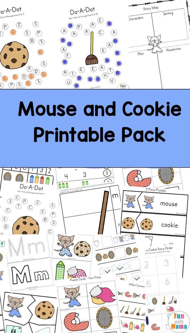 If You Give A Mouse A Cookie Printable Activities Fun Activities