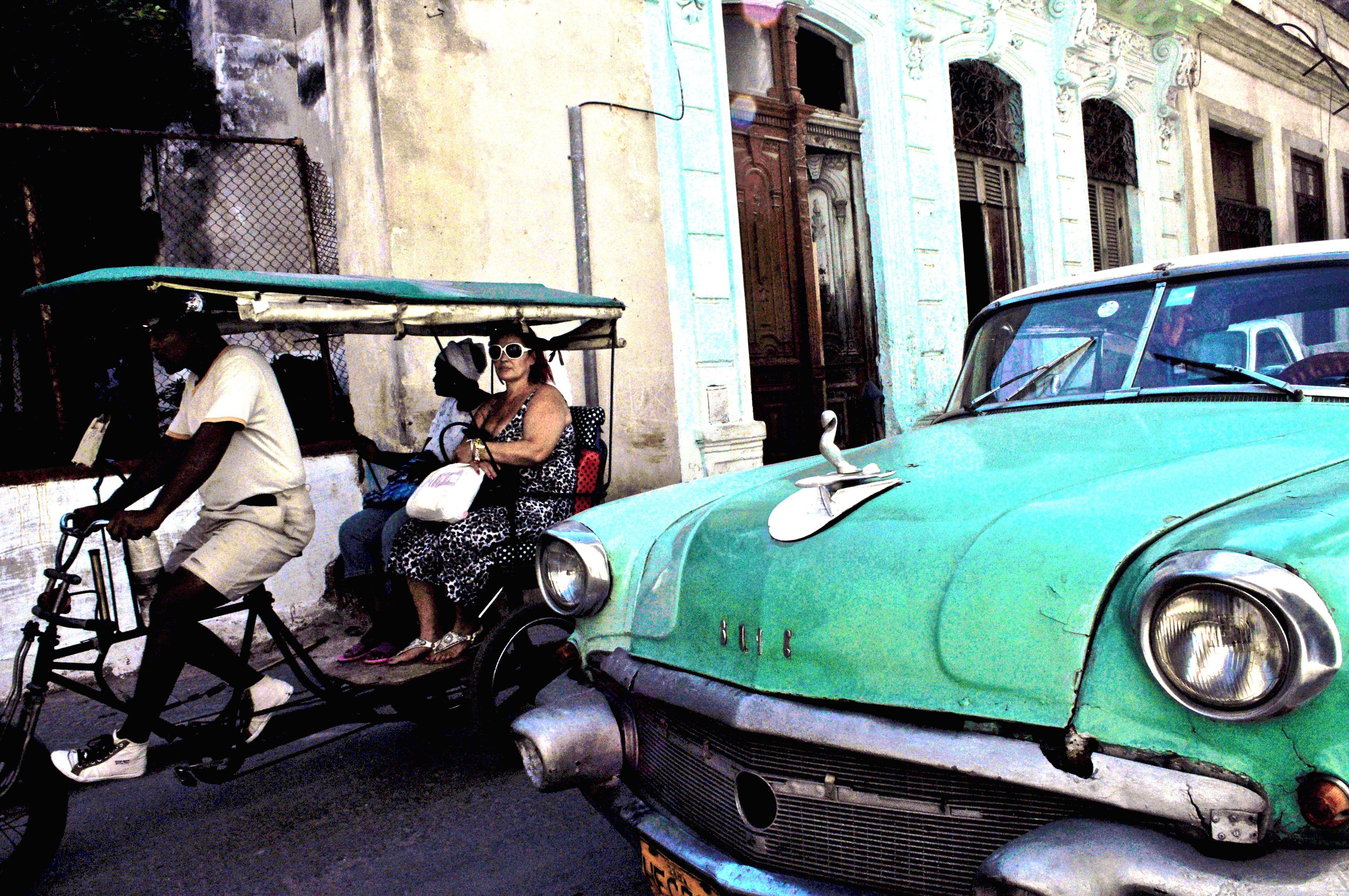 Cuba- Old Car, Old vs. New | Cuban wheelbarrow | Pinterest