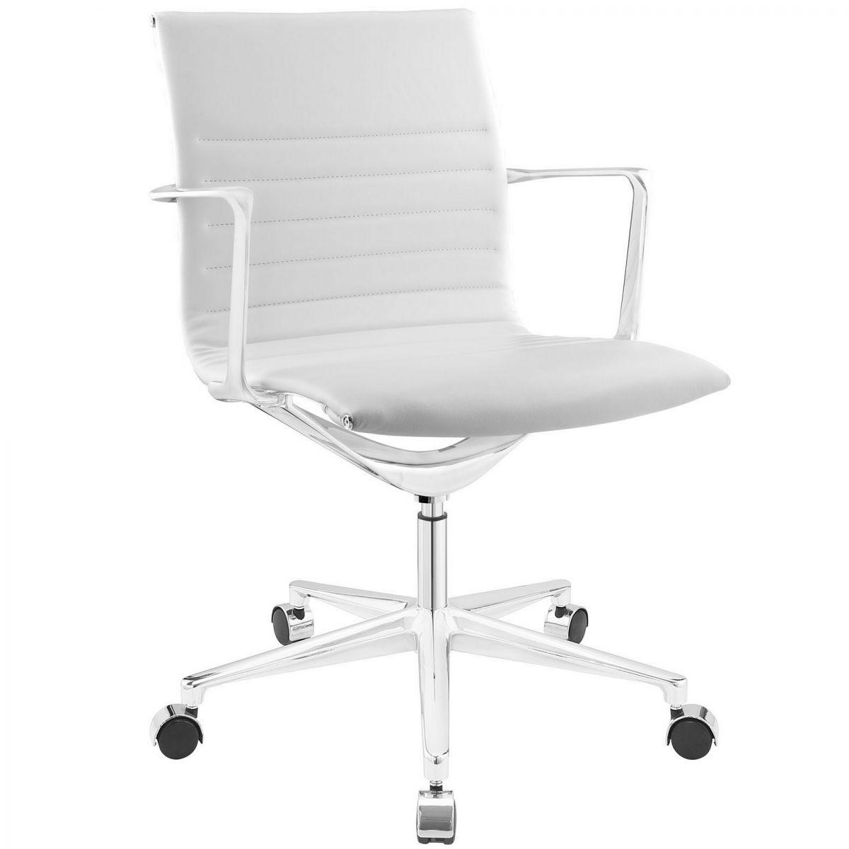 Vivian Mid Back Office Chair White Modern Office Chair Office Chair Mid Century Modern Office Chair