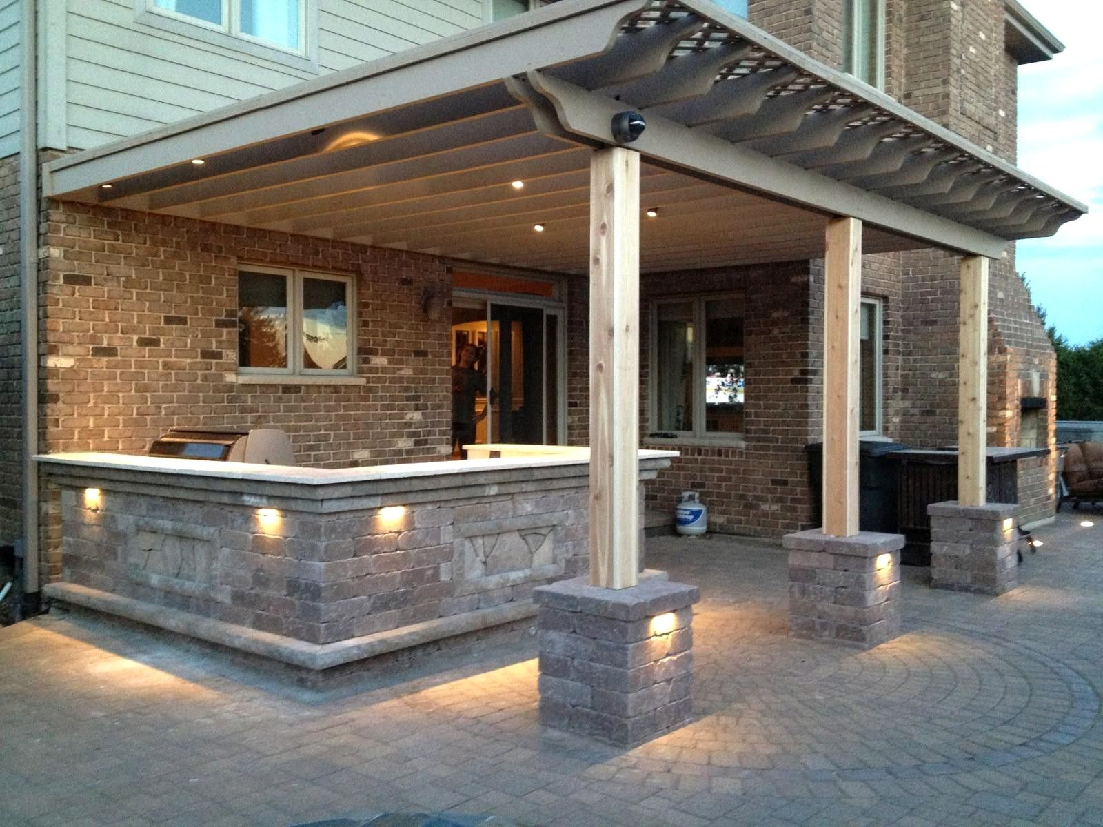 Outdoor kitchen areas have long been prominent in the cozy
