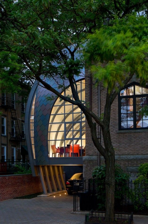 Marchetto Higgins Stieve Architects Designed This Contemporary Extension  For Their Studio Located In A Historic Church In Hoboken, New Jersey. Pictures