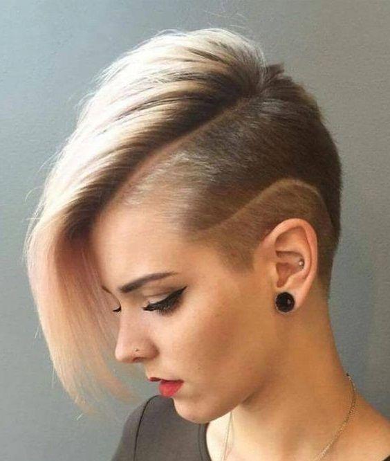 coole frisuren mit rasierten akzenten | haarschnitte für