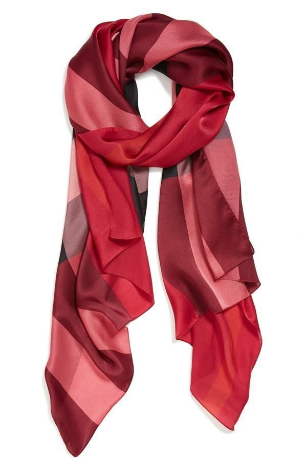 Nice and light for spring | Burberry Check Print Silk ...