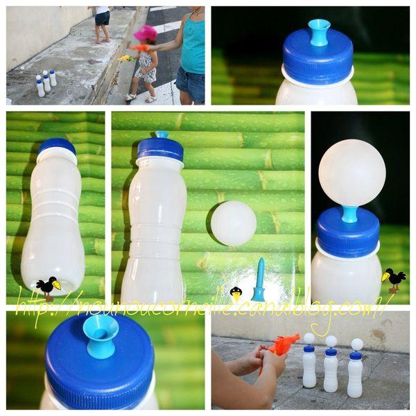 1 2 3 tirez jeu fait maison r cup recyclage for Deboucher toilette avec bouteille