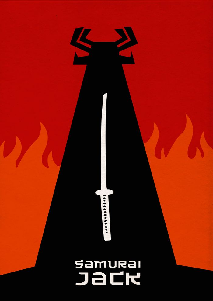 Samurai Jack 20012017 Minimal Tv Series Poster By Vikrant
