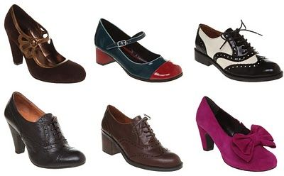 Tuppence Ha'penny: Shoes shoes shoes The upper row: 1st from the left