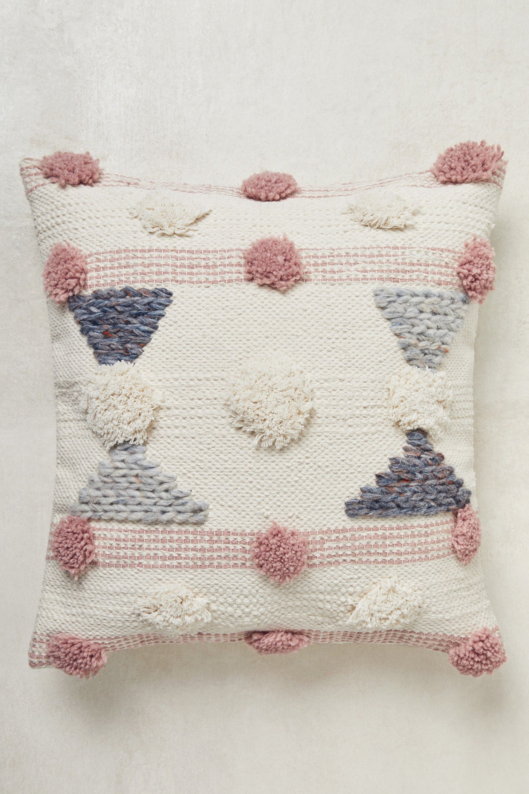 Next Tufted Pom Pom Cushion Pink Pompom cushion