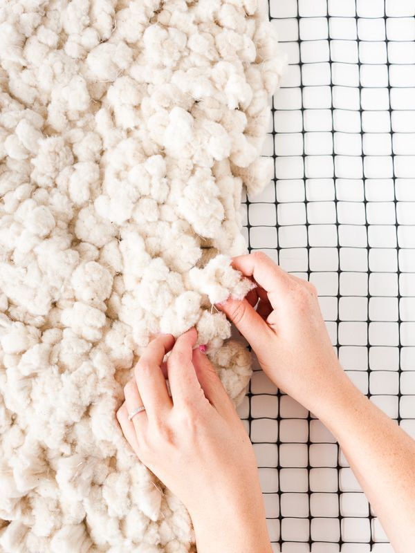 Amazing tutorial for how to make a large-scale rug from scratch. It's over 6 feet long!