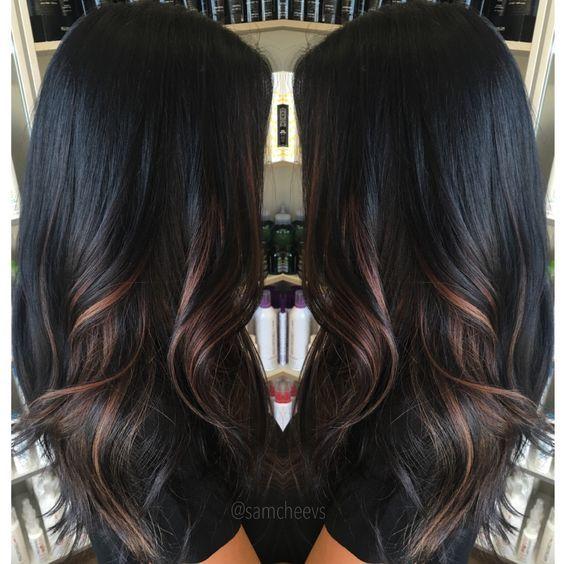 Wonderful Highlights For Dark Hair Dark Ombre Hair