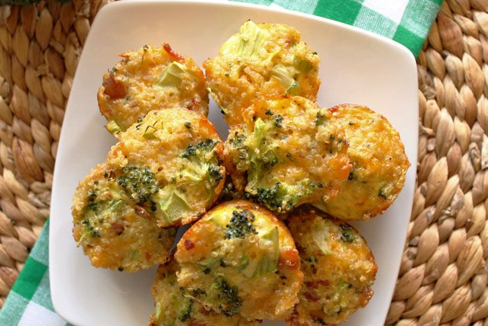Robust Recipes | Broccoli and Cheddar-Bacon-Quinoa Bites | http://robustrecipes.com