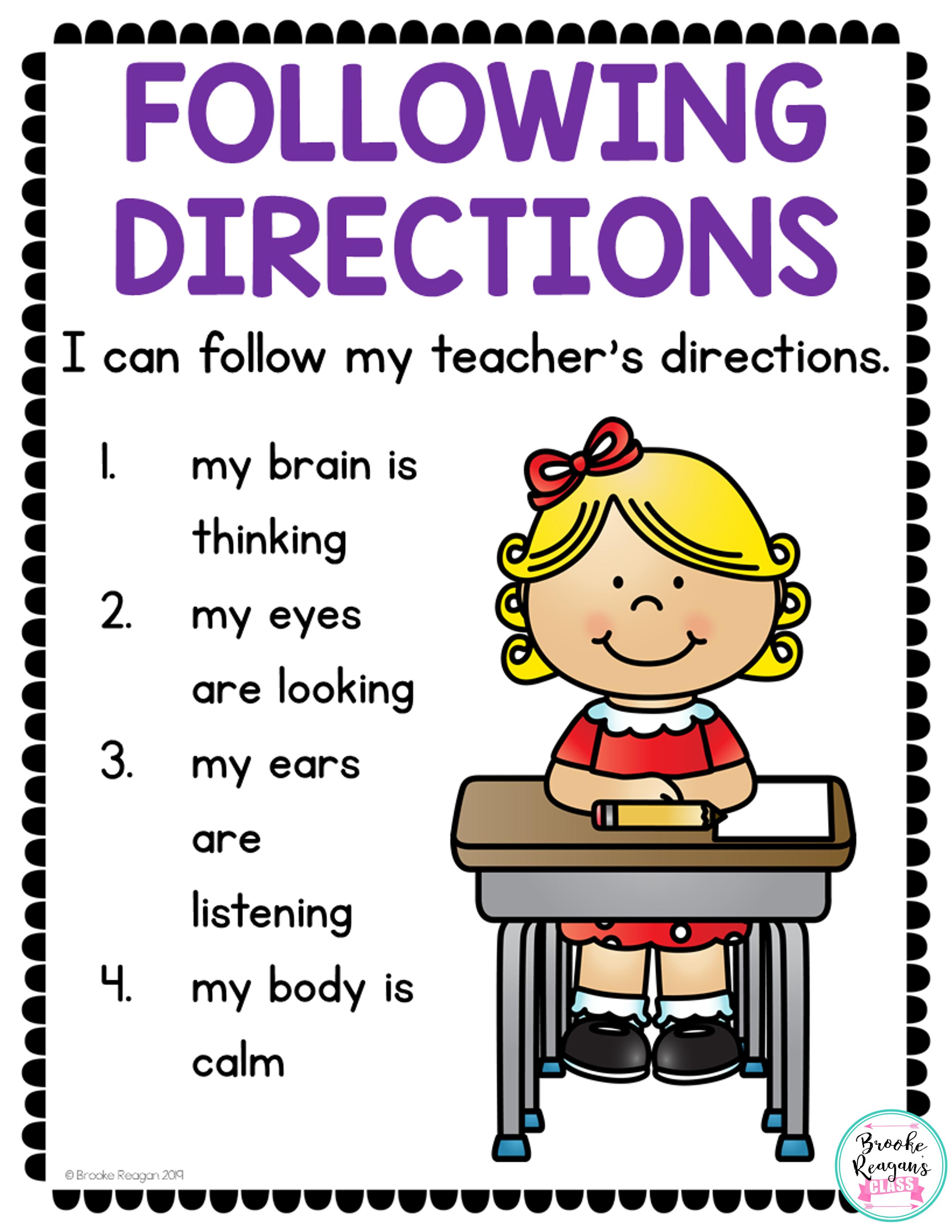 Social Skills Lesson Following Directions Social Skills