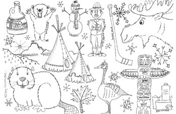 Canada Coloring Page Coloring Pages Canada Day Crafts Canadian Animals