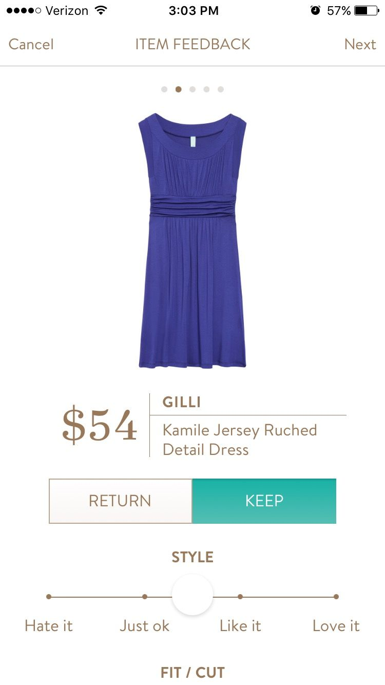 Love color & looks comfortable & flattering! Gilli Kamile Jersey Ruched Detail Dress