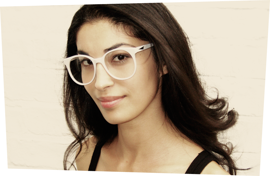 prism london glasses in pale grey
