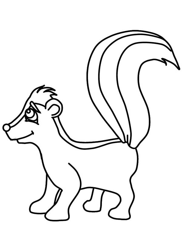 Skunk Smile Coloring Page Color Luna In 2020 Coloring Pages Coloring Pictures Skunk