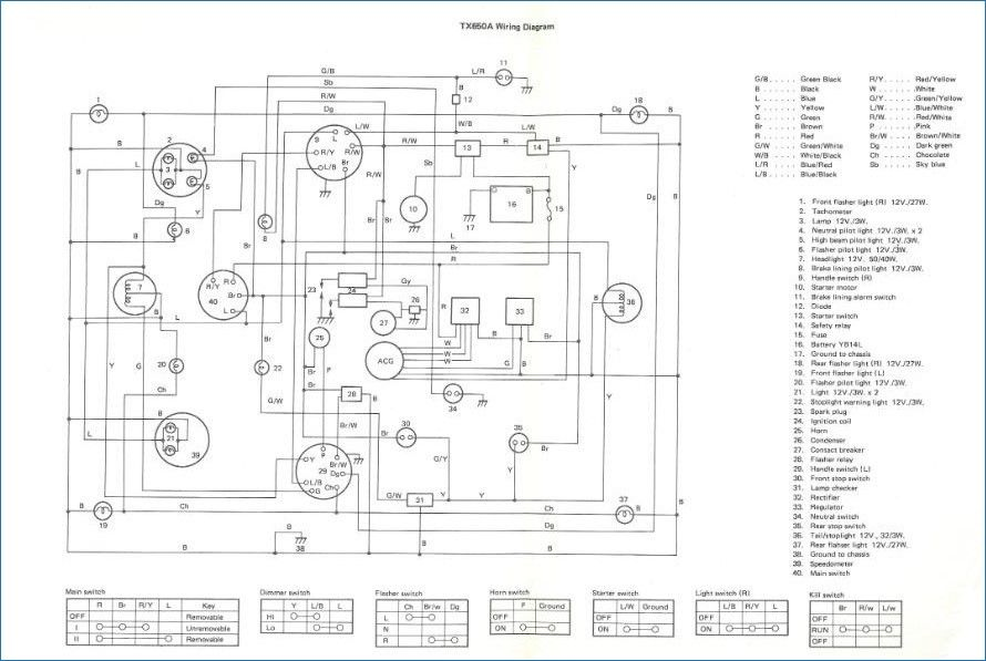 Elec Diagram Electrical Wiring Diagram Bike Repair Motorcycle Wiring