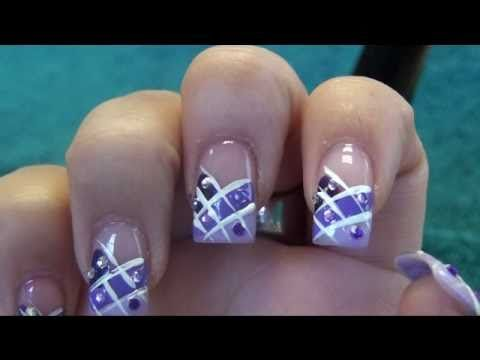 Purple Lavender Prom nail design - http://47beauty.com/nails/ - Purple Lavender Prom Nail Design - Http://47beauty.com/nails/index