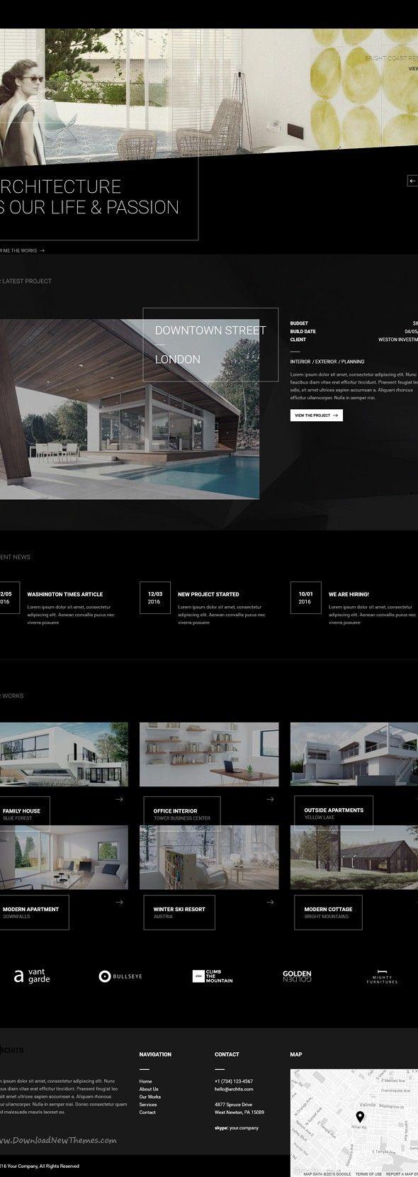 Archits Responsive Architecture Template Disenos De Unas Constructora