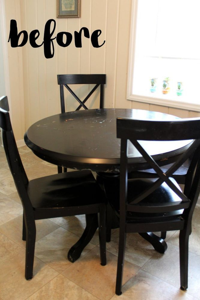 Kitchen Table Makeover is part of Kitchen table makeover - Kitchen Table Makeover   A woman spends $12 to update her kitchen table—look at how amazing it is now!  You won't believe how easy this is!