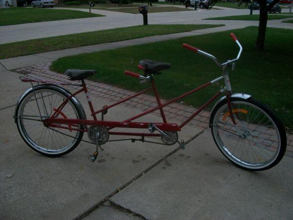 Vintage Bicycle Cruiser Rollfast Tandem Bike 50 S Or 60 S Vintage Bicycles Cruiser Bicycle Old Bicycle