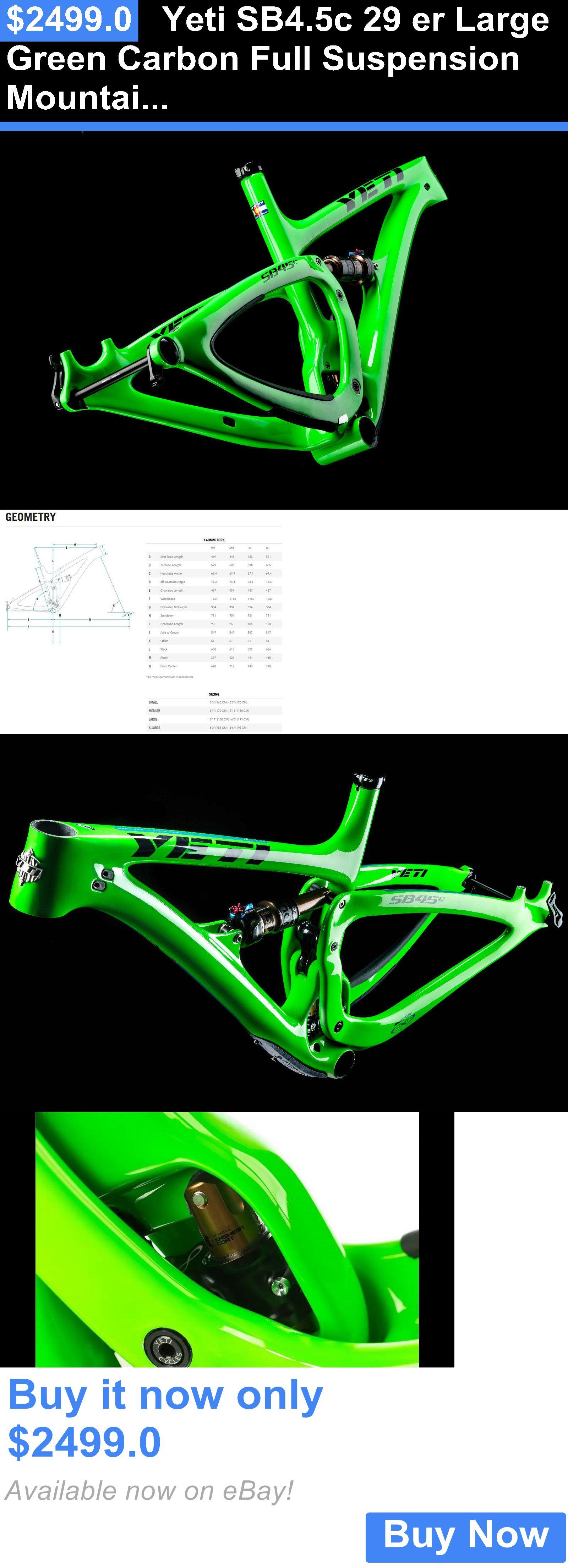 Bicycle Parts Yeti Sb4 5c 29 Er Large Green Carbon Full