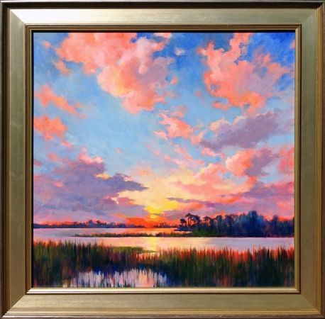 Sunset on High Tide by Junko Ono Rothwell#high #junko #ono #rothwell #sunset #tide