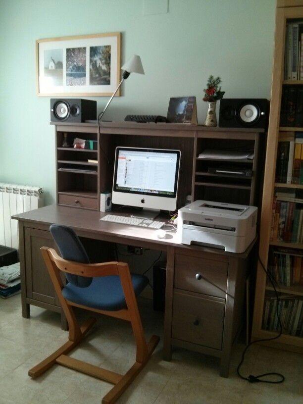 A Nice Office Setup Build Up With An Ikea Hemnes Desk Ikea Hemnes Desk Home Home Decor