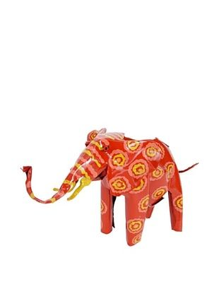 Mbare Painted Tin Elephant (Multi)