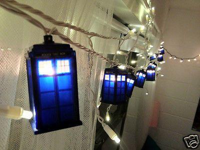 Doctor Who Tardis Christmas Lights: 10 Blue Box Lanterns Matt Smith ...