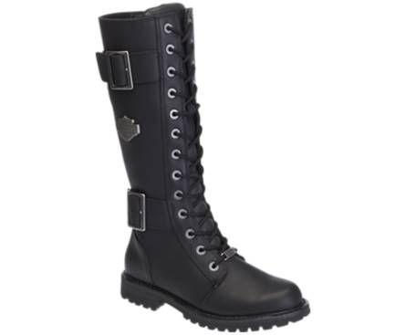 cf677723184 Harley-Davidson women's Belhaven black leather motorcycle boots ...