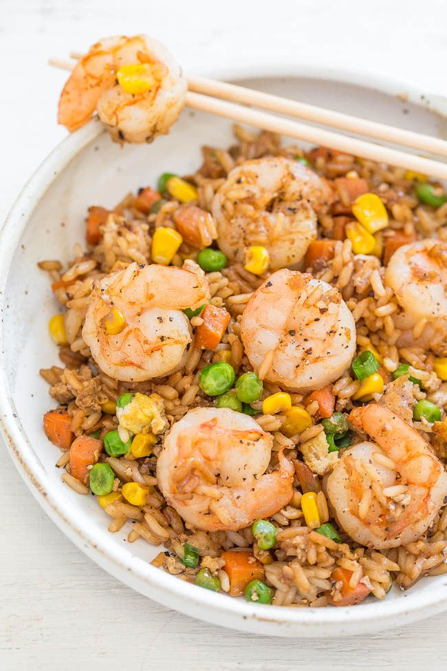Easy Better Than Takeout Shrimp Fried Rice One Skillet Ready In
