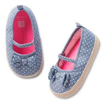 Carter's Prewalker Chambray Espadrille Shoe